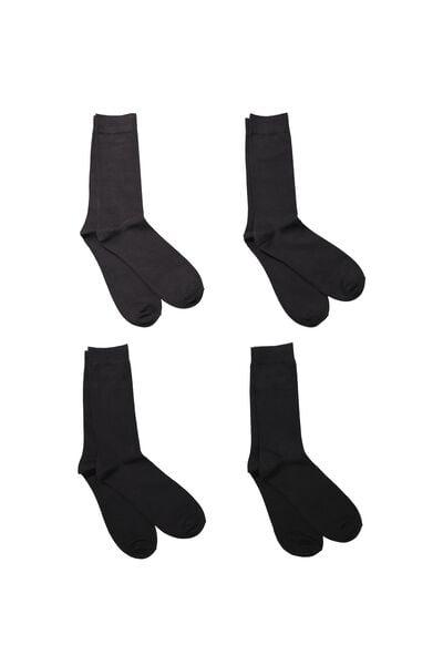 Multi Pack Staple Socks, BLACK