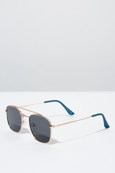Dalton Sunglasses, GOLD/BLACK/BLUE