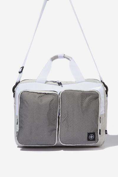 Transit Laptop Bag, GREY/WHITE MESH