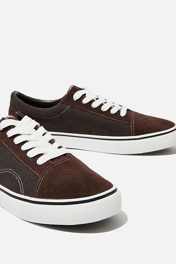 Axell Skate Shoe, BROWN/CORDUROY