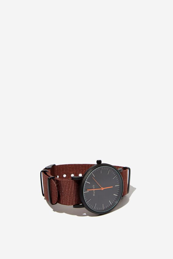 Columbia Watch, WOVEN BROWN/MATTE BLACK