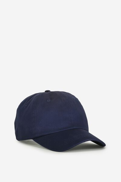 Strap Back Dad Hat, TAPED/NAVY
