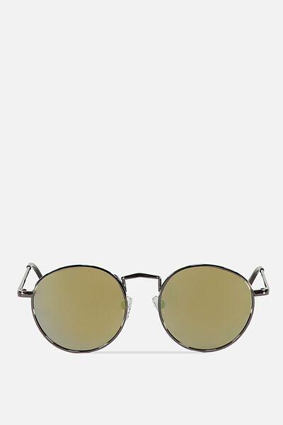 Columbus Sunglasses, HEMATITE/BROWN YELLOW