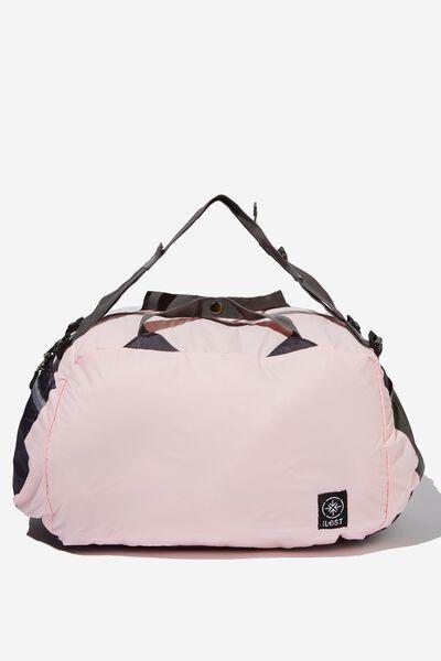 Packable Duffle, PINK GREY