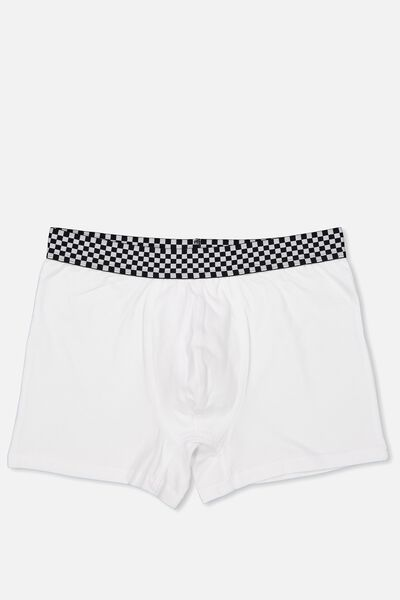 Single Hanging Trunks, WHITE/BLACK/WHITE/CHECK