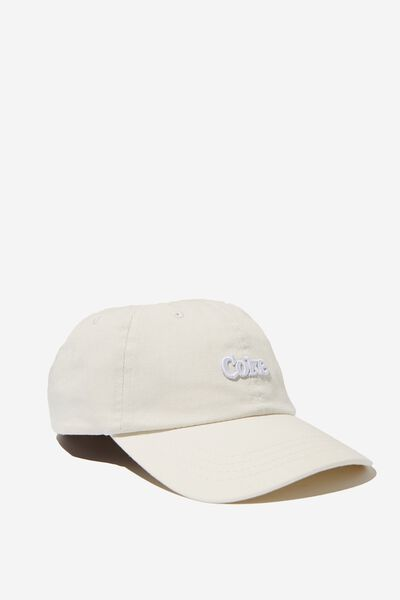 Strap Back Dad Hat, LC LIGHT GREY/COKE