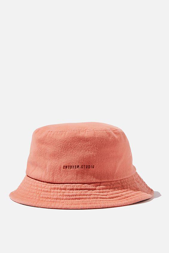 Bucket Hat, WASHED ORANGE/WEEKEND STUDIO