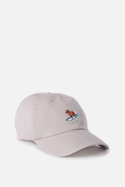 Strap Back Dad Hat, ORCHID/SURF POOCH