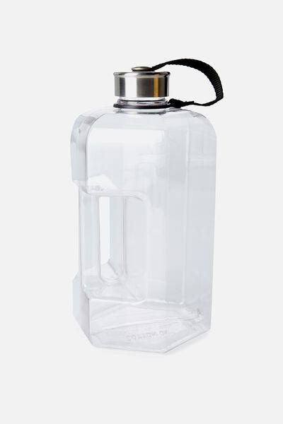 Dumbbell Drink Bottle, CLEAR