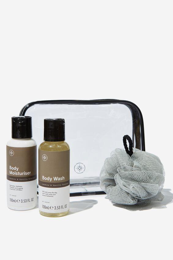 Travel Bath & Body Set, JASMINE WOOD & VANILLA