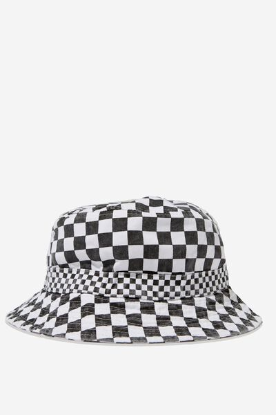 Bucket Hat, BLACK WHITE CHECK/CHECKER