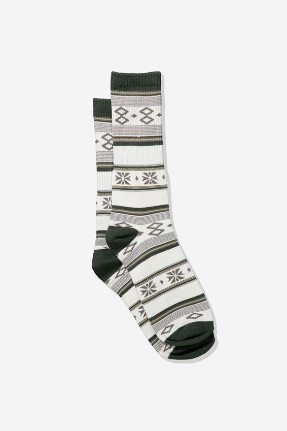 Single Pack Active Socks, KHAKI BLANKET