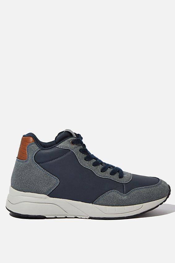 Marcel Sneaker Boot, NAVY/GREY