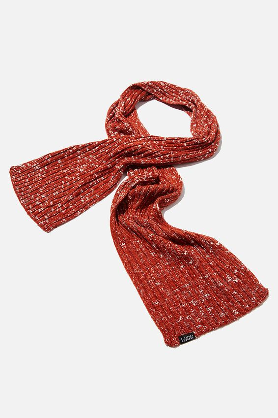 Chill Out Scarf, TERRACOTTA/WHITE FLECK