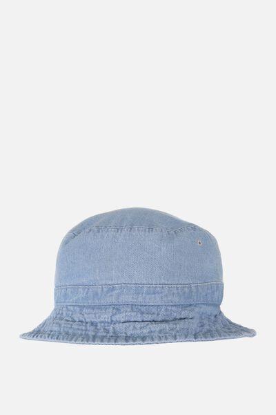 Bucket Hat, WASHED DENIM