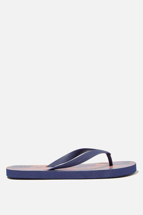 Bondi Flip Flop, NAVY/MAROON PLASMA