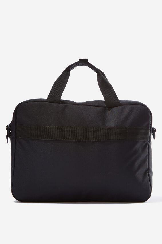Transit Laptop Bag, GREY CROSSHATCH/BLACK