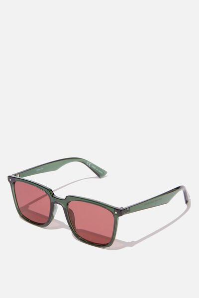 Newtown Sunglasses, GREEN/RED