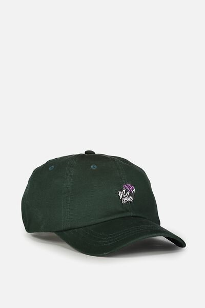 Strap Back Dad Hat, WHISKERS/SPORT GREEN