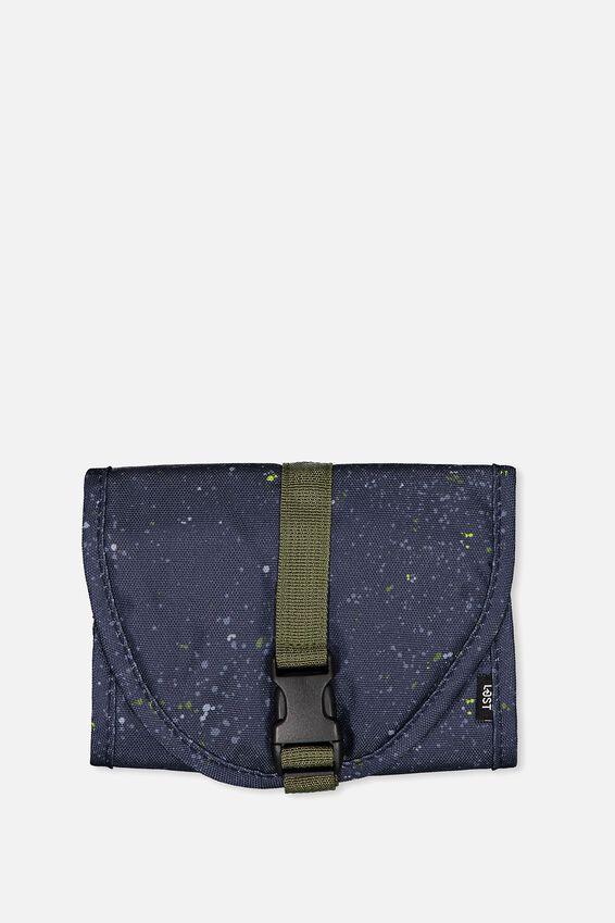 Compact Wash Bag, TRUE NAVY SPLATTER