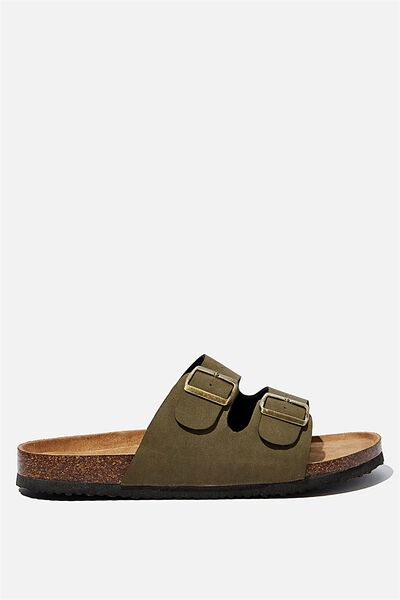 Double Buckle Sandal, KHAKI