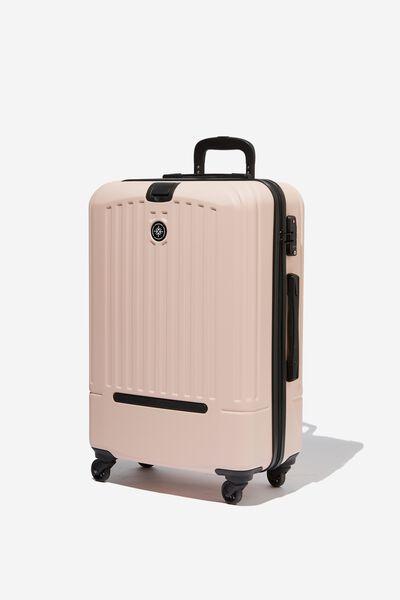 Med 24Inch Hard Suitcase, BLUSH