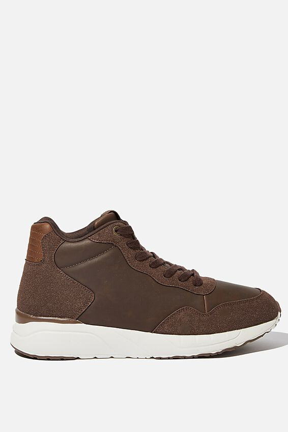 Marcel Sneaker Boot, BROWN/WHITE