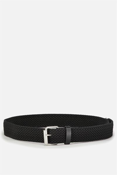 Hampton Plait Belt, BLACK
