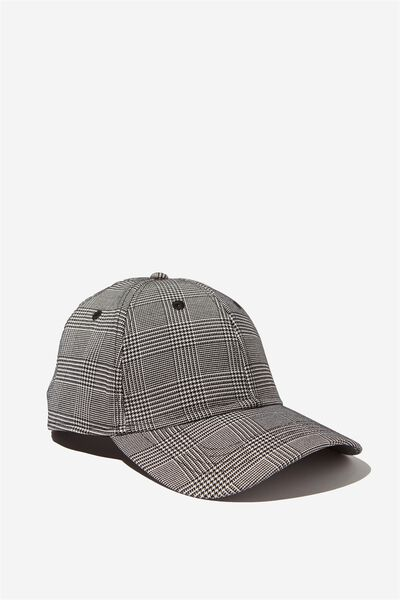 Outfield Fitted Cap, GREY CHECK