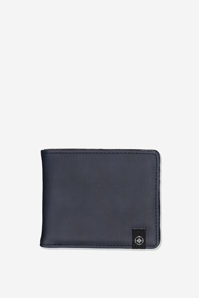 Mens Flip Wallet, NAVY PU
