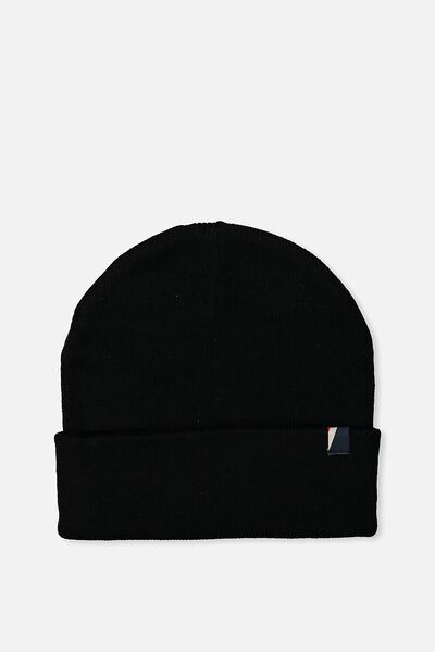 High Top Beanie, BLACK