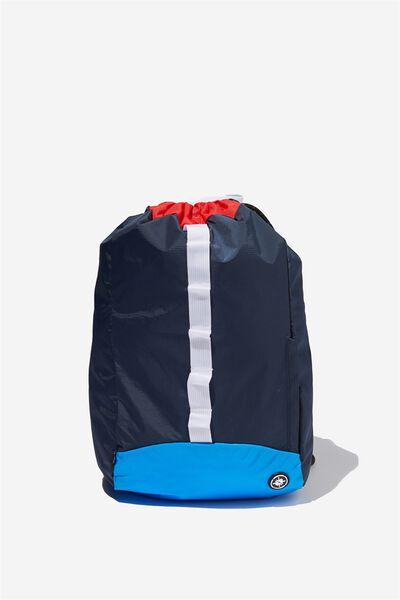Explore Drawstring Bag, NAVY/RED/BLUE