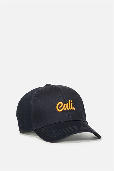 Outfield Fitted Cap, NAVY/CONTRAST CALI