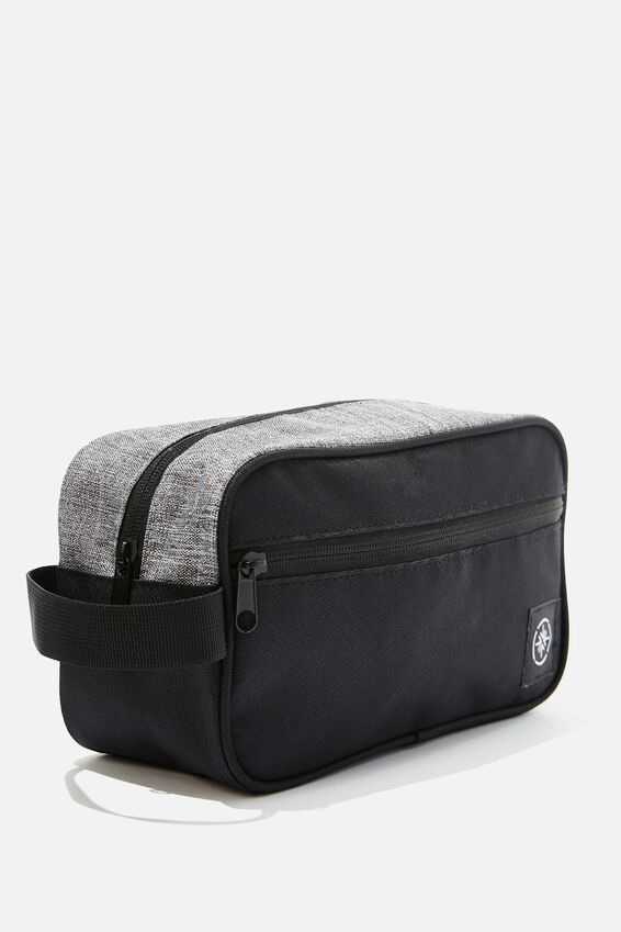 Transit Wash Bag, BLACK /GREY CROSSHATCH