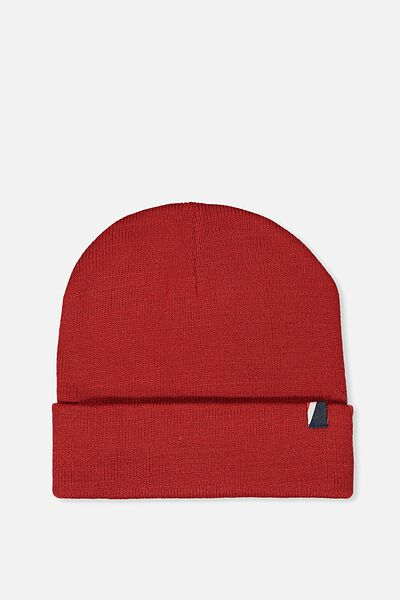 High Top Beanie, RED