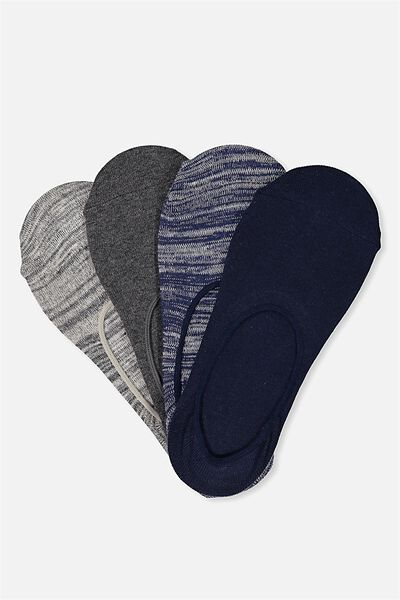 Multi Pack Invisi Socks, MARLE PACK