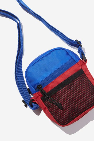 Crossbody Pouch, ELECTRIC BLUE/STRONG RED