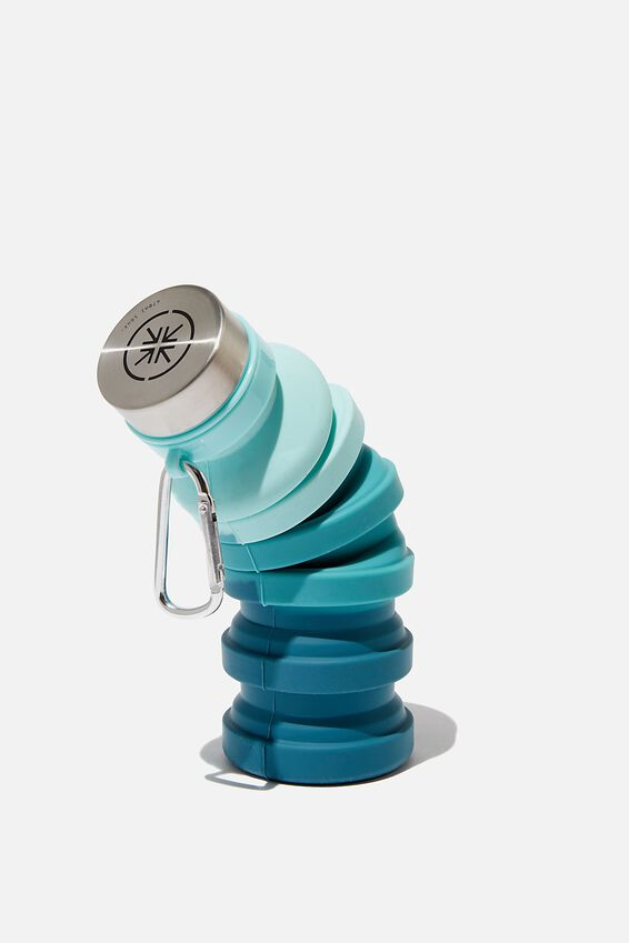 Collapsible Drink Bottle, COLONIAL BLUE OMBRE