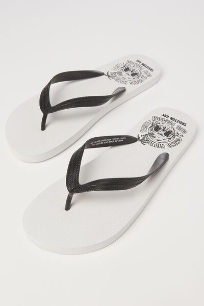 Bondi Flip Flop, WHITE/GOING NOWHERE