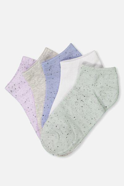 5Pk Ankle Sock, TRUE BLUE NEP