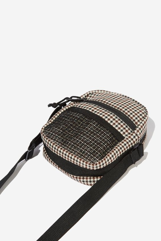 Crossbody Pouch, BROWN HOUNDSTOOTH