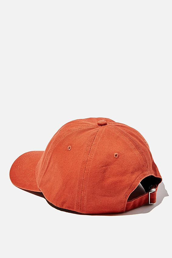 Strap Back Dad Hat, BURNT RED/SAND/LOS ANGELES