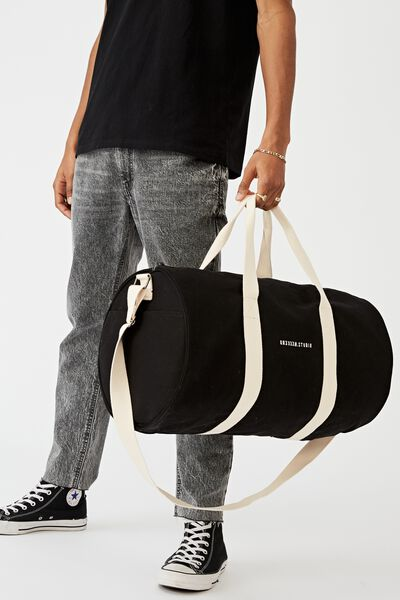 Brunswick Barrel Duffle, BLACK CANVAS