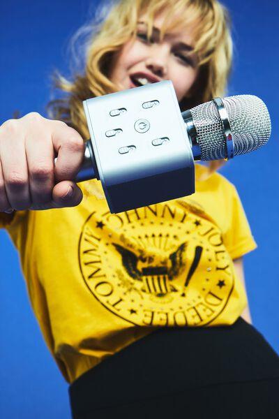 Microphone Speaker, SILVER