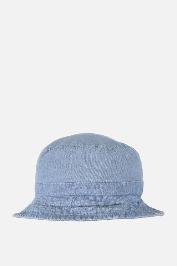 Bucket Hat, WASHED DENIM