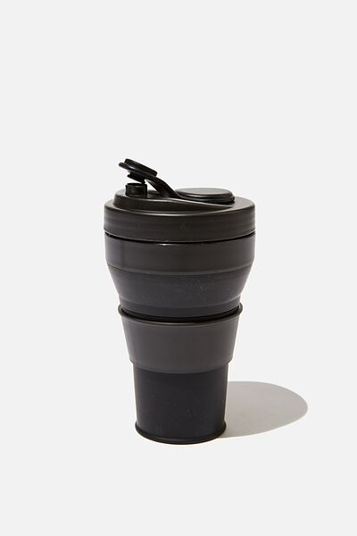 Collapsible Coffee Cup, BLACK