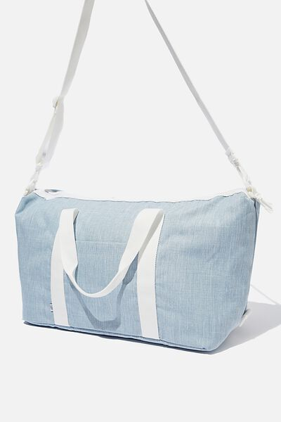 Transit Duffle Bag, CHAMBRAY CROSSHATCH