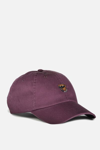 Strap Back Dad Hat, PRUNE/BIG DOG
