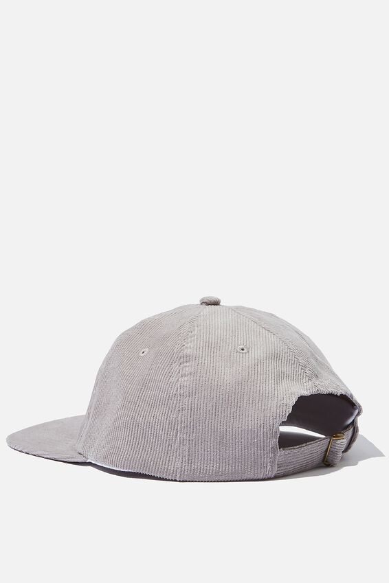 6 Panel Hat, LIGHT GREY CORDUROY/UNION LABEL