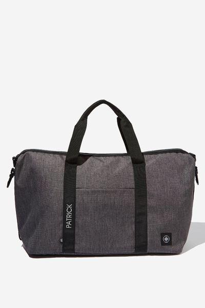 Personalised Transit Duffle Bag, CHARCOAL CROSSHACTH